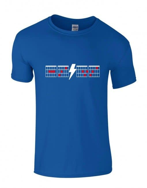 ACDC Chords Tee Blue