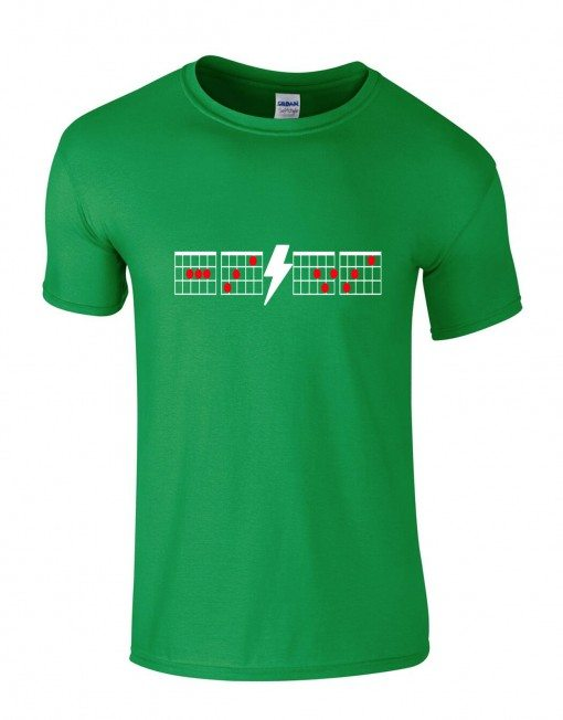 ACDC Chords Tee Green