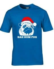 Bah Hum Pug - Mens-Funny Xmas T-Shirt gift - Great for dog lovers