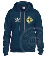 NI Casuals - Northern Ireland Football Casual football top - Unofficial merch - Navy hoodie